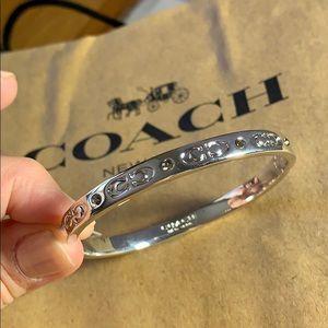 Coach signature c bangle bracelet NWT